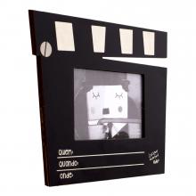 Porta retrato claquete 10x15 - luz, camera, acao