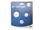 Kit bottons - cor de rosa