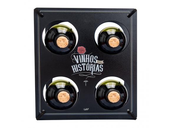 Porta garrafa - bons vinhos, boas historias