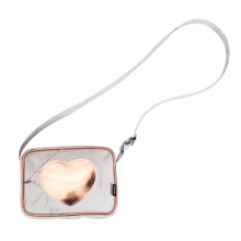 Bolsa tiracolo square - cor de rosa