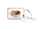 Bolsa tiracolo square - cor-de-rosa