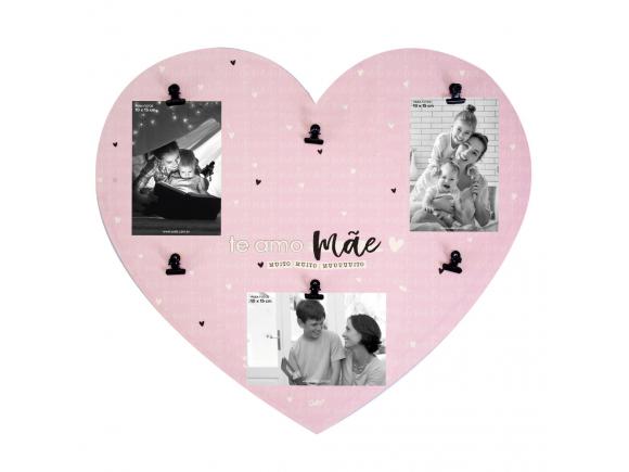 Mural 6 fotos clips - mãe te amo
