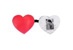 Chaveiro coração com foto - amor