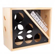Mini adega e porta-rolhas - vinho